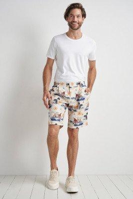 Komodo Bobby Pleat Shorts Bali Surf Print