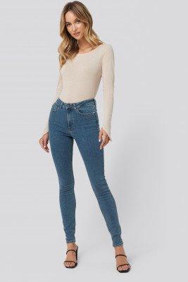 Pamela x NA-KD Reborn Pamela x NA-KD Reborn High Waist Skinny Fit Jeans - Blue