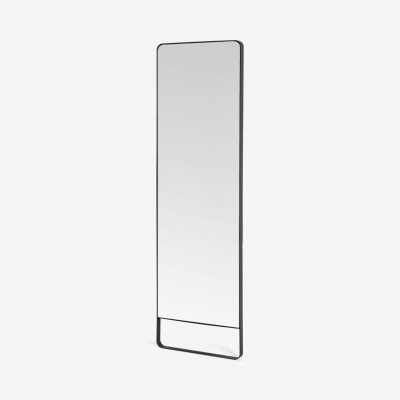 MADE.COM Arles staande spiegel, 48 x 160 cm, matzwart