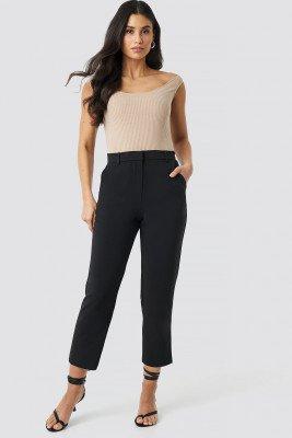 NA-KD Trend NA-KD Trend Raw Hem Pants - Black