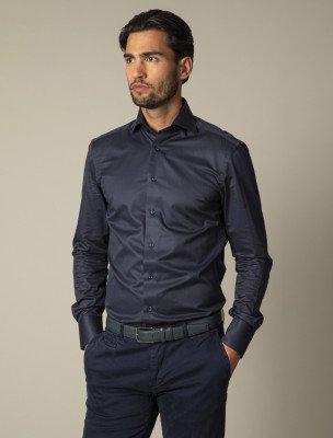 Cavallaro Napoli Cavallaro Napoli Heren Overhemd - NOS Navy Overhemd - Donkerblauw