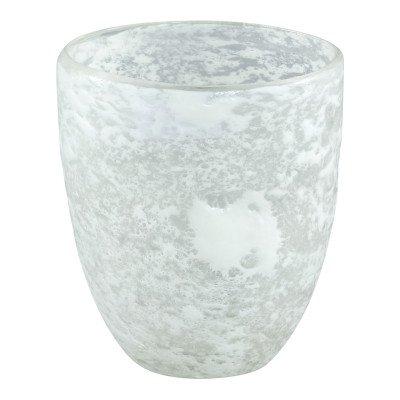 Firawonen.nl Lona white glass vase round m