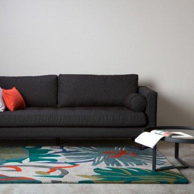 MADE.COM Mirto getuft wollen vloerkleed 160 x 230 cm, meerkleurig