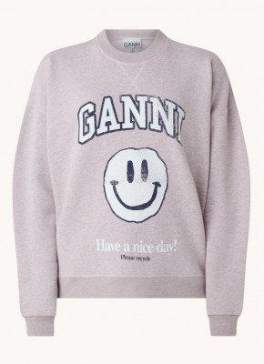 Ganni Ganni Sweater met logoprint
