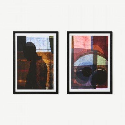 MADE.COM MEP Studio Afrik Urbaniq, set van 2 ingelijste prints, door Visser & Van Leeuwen, A3