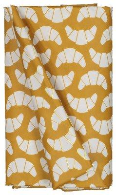 HEMA HEMA Tafelzeil 140x240 Polyester - Croissants Oker/wit (okergeel)