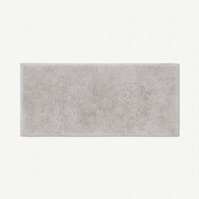 MADE.COM Aire badmat van 100% katoen, extra lang, 50 x 110 cm, lichtgrijs