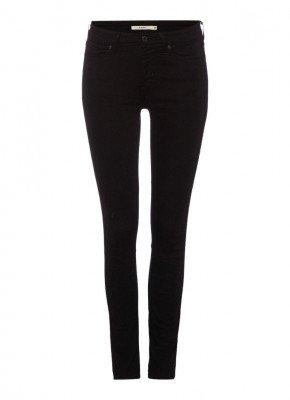 Levi's Levi's 711 mid waist skinny jeans met zwarte wassing