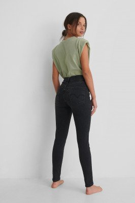 Levis Levi's Skinny Jeans Met Superhoge Taille - Black