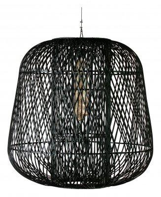 WOOOD Exclusive WOOOD Exclusive Hanglamp 'Moza' XXL Bamboe 100cm , kleur Zwart