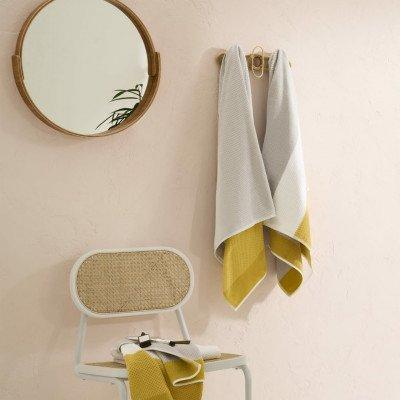 MADE.COM Aiko set van 4 handdoeken, mosterdgeel