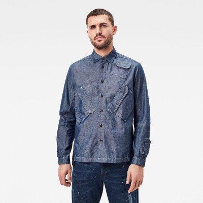 G-Star RAW Multi Slant Pocket Relaxed Shirt - Donkerblauw - Heren