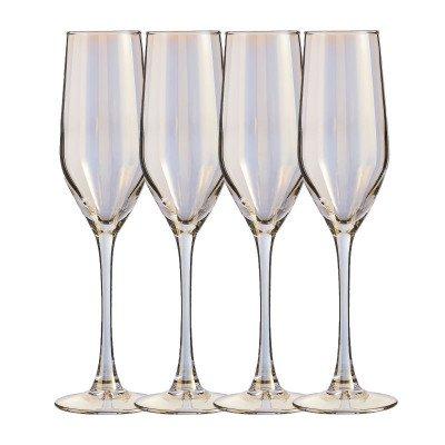 Xenos Champagneglazen goud - 16 cl - set van 4