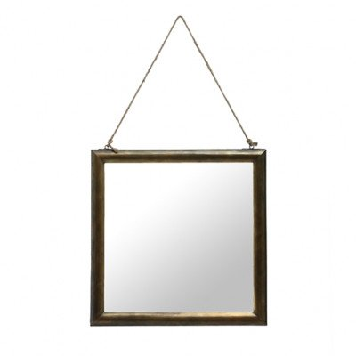 Firawonen.nl PTMD Paloma iron brass mirror square