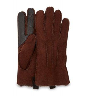 UGG UGG Sheepskin 3PT Glove Donkerbruin Heren Handschoenen