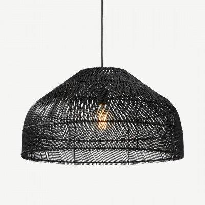 Java extra grote lampenkap, zwart