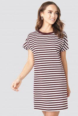 NA-KD NA-KD Striped Oversized T-shirt Dress - Multicolor