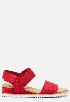 Skechers Skechers Bobs Desert Kiss sandalen rood