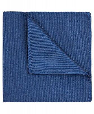 Profuomo Profuomo heren blauw zijden pochet