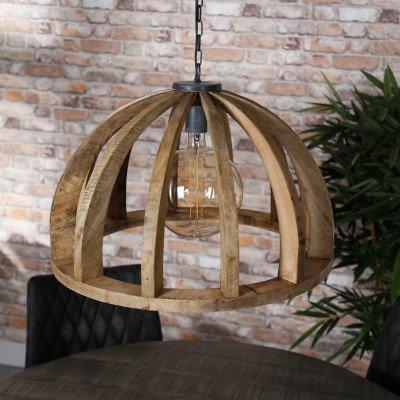 LifestyleFurn Hanglamp 'Lindsay' Ø60cm, Mangohout