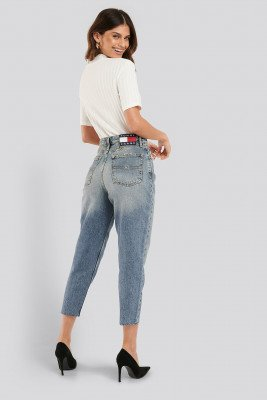 Tommy Jeans Tommy Jeans Mom High Rise Tapered Iron Mid Jeans - Blue