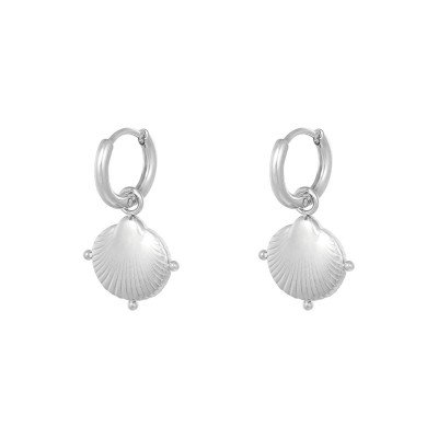 SHELL EARRINGS SILVER