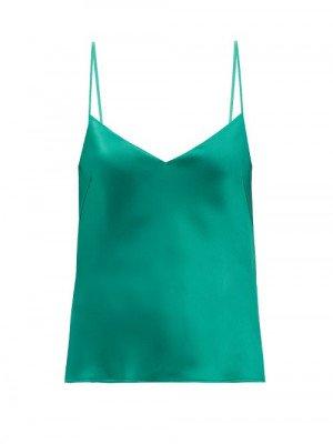 Matchesfashion Galvan - Satin Camisole - Womens - Emerald