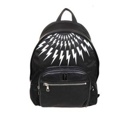 Neil Barrett fair-isla thunderbolt backpack