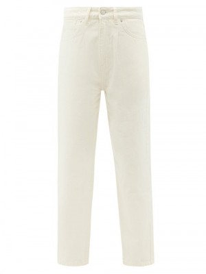 Matchesfashion Officine Générale - Dana High-rise Cropped Jeans - Womens - Ivory