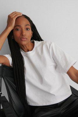 NA-KD Basic Oversized T-Shirt - White