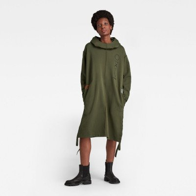 G-Star RAW Hoodie Sweaterjurk Long - Groen - Dames
