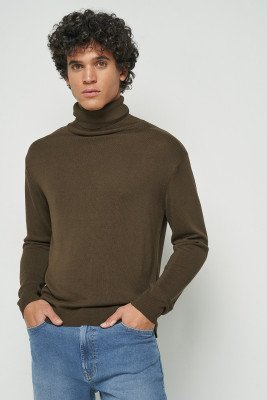 nu-in Fine-knit polo-neck jumper