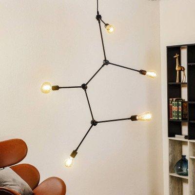 Menu Menu Harrison hanglamp, zwart, 5-lamps