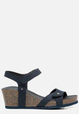 Panama Jack Panama Jack Julia Basics B10 sandalen met sleehak blauw