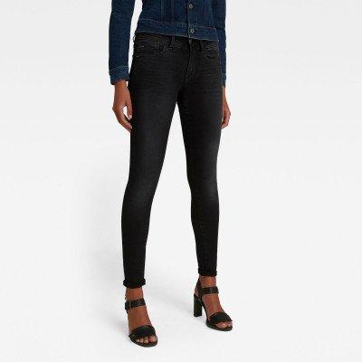 G-Star RAW Lynn Mid Super Skinny Jeans - Grijs - Dames