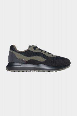 BALR. Runner Corduroy/Nubuck Sneaker Jet /Ivy Green
