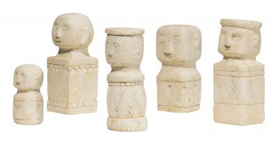 WOOOD WOOOD Ornament 'Kees' Set van 5 stuks