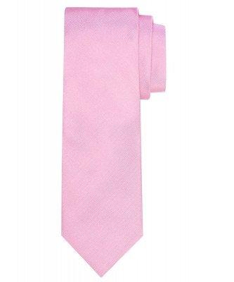 Profuomo Profuomo heren roze ribs zijden stropdas
