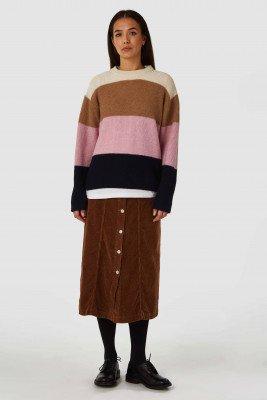 Kings of indigo Kings of Indigo - ATSUKO skirt Women - Brown