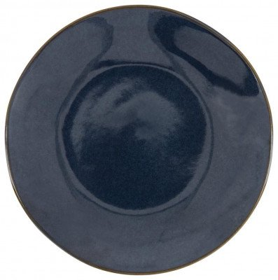HEMA HEMA Ontbijtbord - 20 Cm - Porto - Reactief Glazuur - Donkerblauw (donkerblauw)