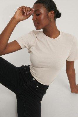 NA-KD Basic Basic T-Shirt - Beige