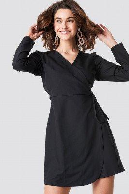 Trendyol Trendyol Wrap Around Mini Dress - Black