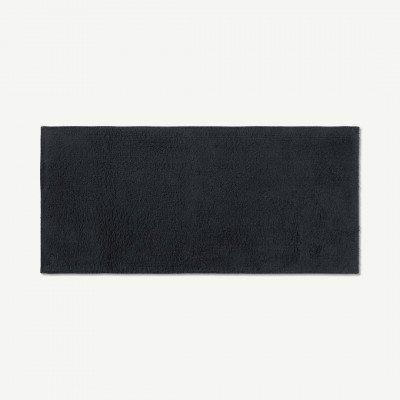 MADE.COM Aire badmat van 100% katoen, extra lang, 50 x 110 cm, grafiet