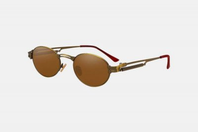Blank-Sunglasses NL FUNK. - Gold with brown