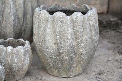 PTMD PTMD Pot 'Kyler', Cement, 40 x 40cm, kleur Grijs