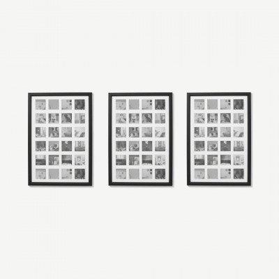 MADE.COM Diment set van 3 fotolijsten, zwart