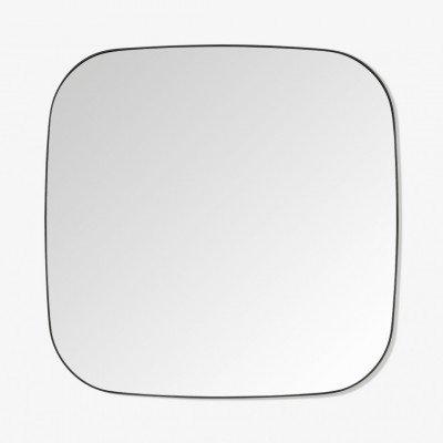MADE.COM Emmerson vierkante spiegel, 70 x 70 cm, matzwart