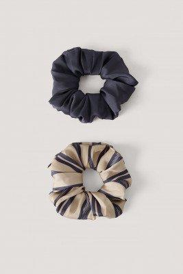 NA-KD Accessories Oversized Satijnen Scrunchie - Purple