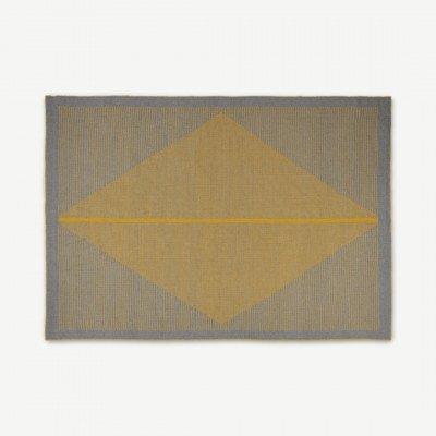 MADE.COM Camden vloerkleed, 160 x 230 cm, grijs en mosterdgeel