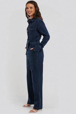 Snøløs x NA-KD Snøløs x NA-KD Front Pocket Denim Jumpsuit - Blue